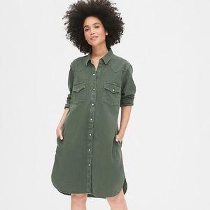 NWT 💰 GAP Military Style Shirt Dress ((pockets!))